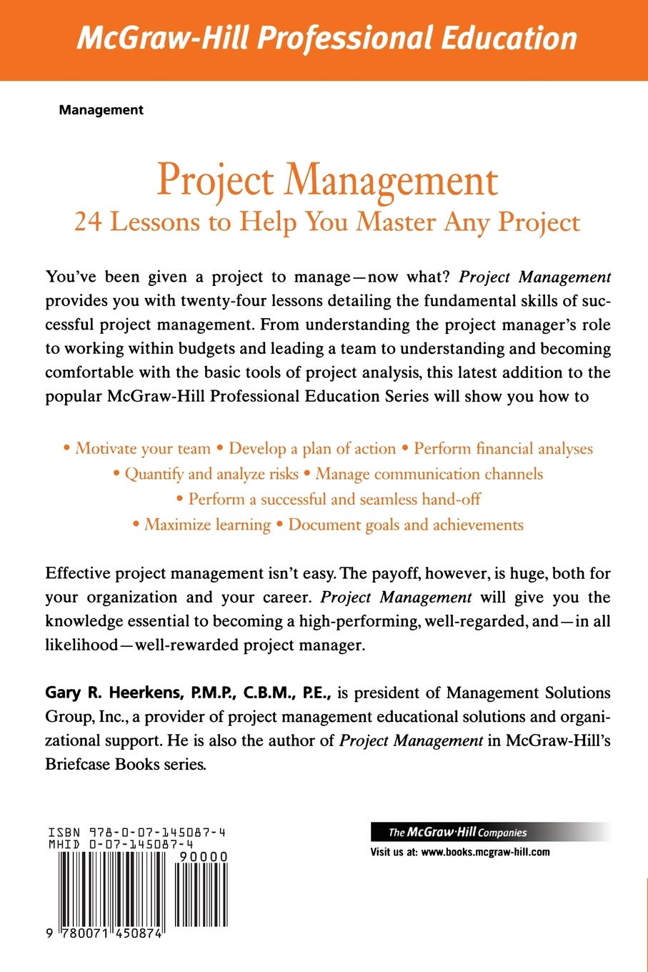Buy Project Management The Mcgraw Hill Professional Education
