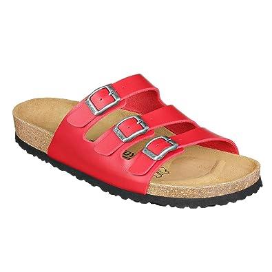 JOE N JOYCE Damen Paris Synsoft Soft Fußbett Sandalen Red Größe 41 EU Schmal V1iQL