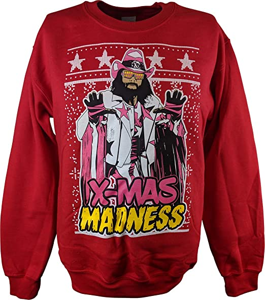Backstreet Boys Christmas Sweater.Macho Man Randy Savage Ugly X Mas Madness Red Christmas Mens Sweater