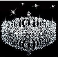 SudaTek Novelty Princess Tiara Sparkle Crystal Rhinestone Kid's Crown Birthday Glitter Tiara with Comb
