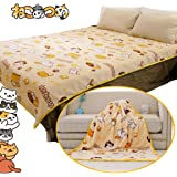 "Neko Atsume Cat Print Soft Throw Blanket for Kids Couch Bed,Janpanese Game Cat Pattern Blanket 40"" x 59"" (M)"
