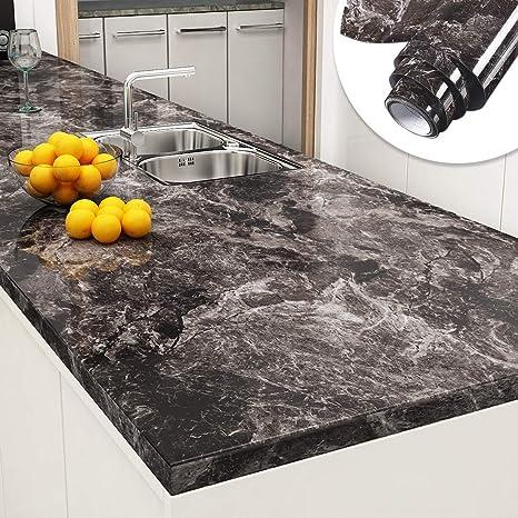 Sandstone Black Granite Look Marble Contact Paper Decorative Kitchen Countertops Peel And Stick Wallpaper For Bathroom Cabinet Shelf Liner 24 X 196 Inch Amazon Ca Tools Home Improvement