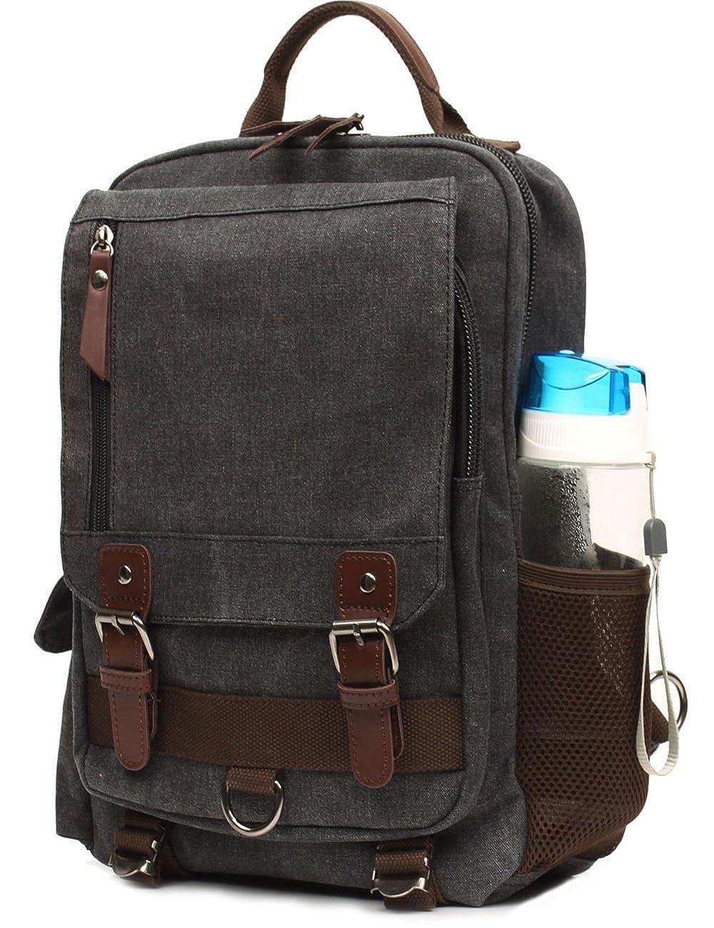 331d1363538 Mygreen Canvas Cross Body Messenger Bag Shoulder Sling Backpack Travel  Rucksack larger image