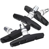 Hotop 2 Pairs V Bike Brake Pads with Hex Nuts and Spacers V Bicycle Brake Blocks Set 70 mm