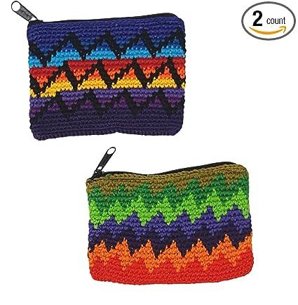 Amazon 2 Pack Guatemalan Hand Crocheted Rectangular Coin