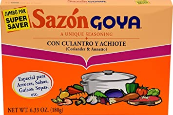 Goya Sazon Culantro/Achiote Jumbo 6.3 OZ(Pack of 12)