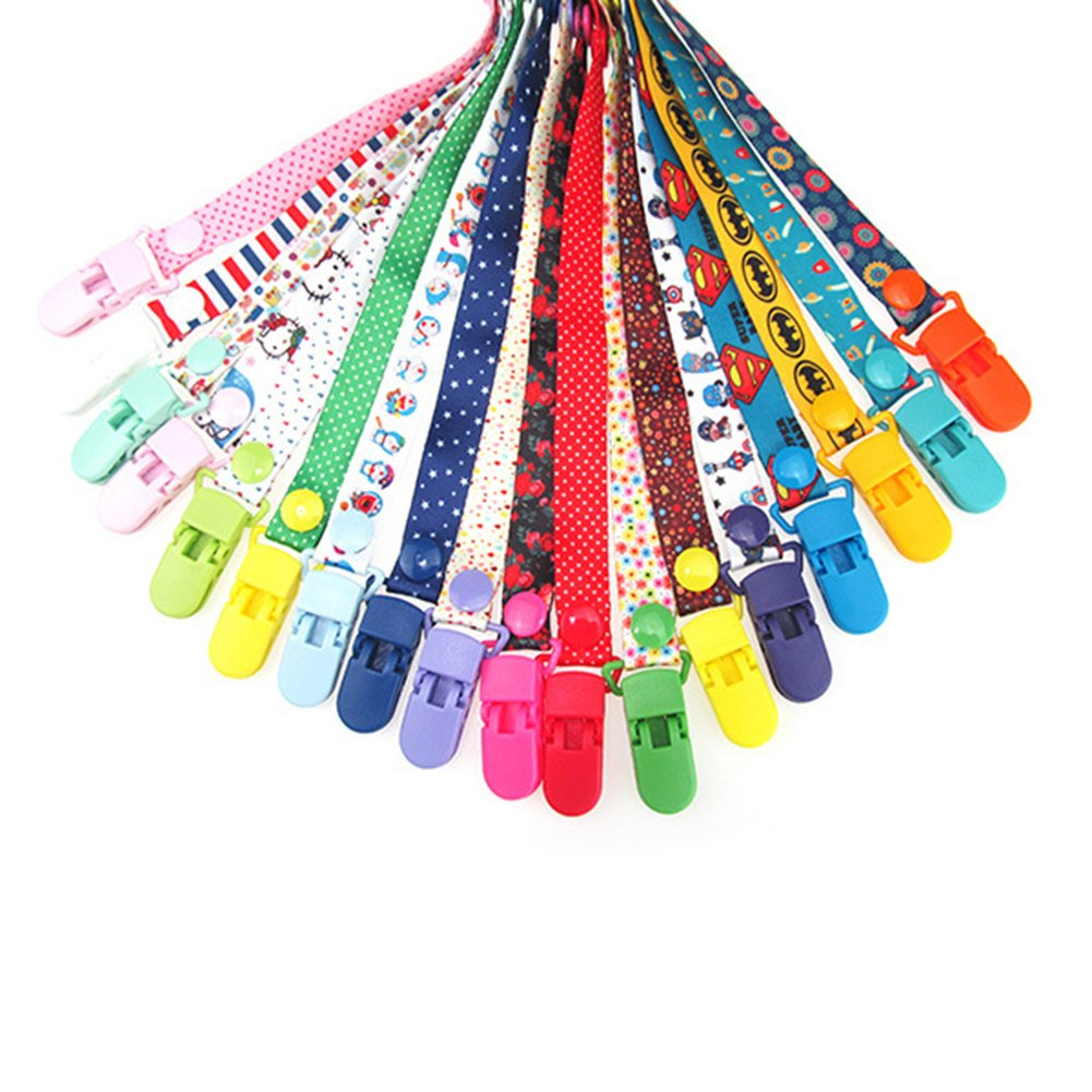 Baby Dummy Clips Pacifier Holder Strap, Baby Stroller Hooks, 8 Pack Baby Toy Pacifier Dummy Clip New Sippy Pal Baby Bottle Strap Clip Hanger for Stroller Pram (8 Colors) by Yueunishi (Image #5)