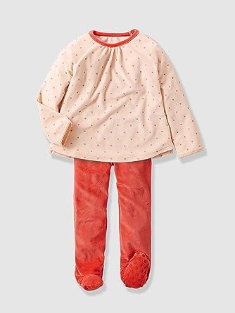 4e4cd56762c24 Vertbaudet - Pyjama fille velours avec pieds  Amazon.fr  Vêtements ...