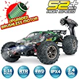Hosim RC Car 1:16 Scale 2847 Brushless Remote Control RC Monster Truck , All Terrain 4WD High Speed 52KM/h Off-Road…