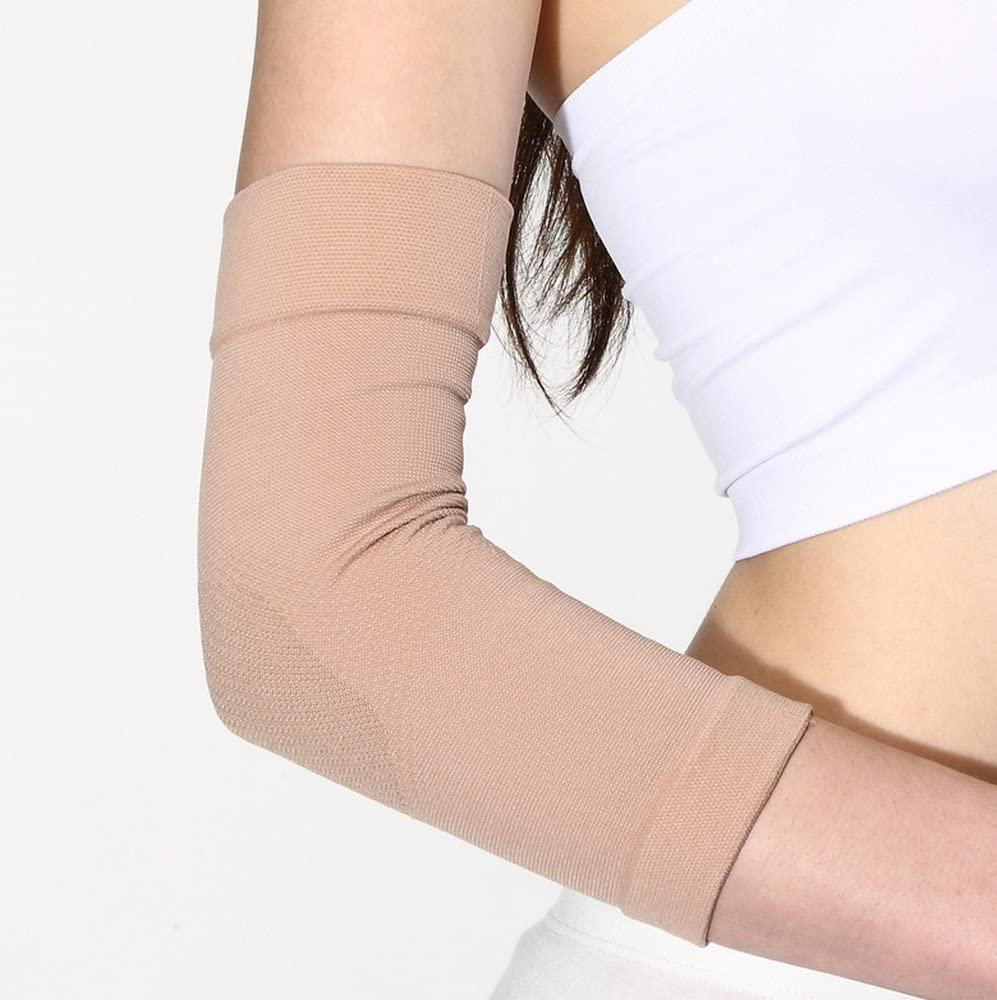 Xl Skin Color Arm Compression Sleeves Elbow Braces Tattoo Cover Up Sleeves For Men Women Arm Supports Sports Outdoors