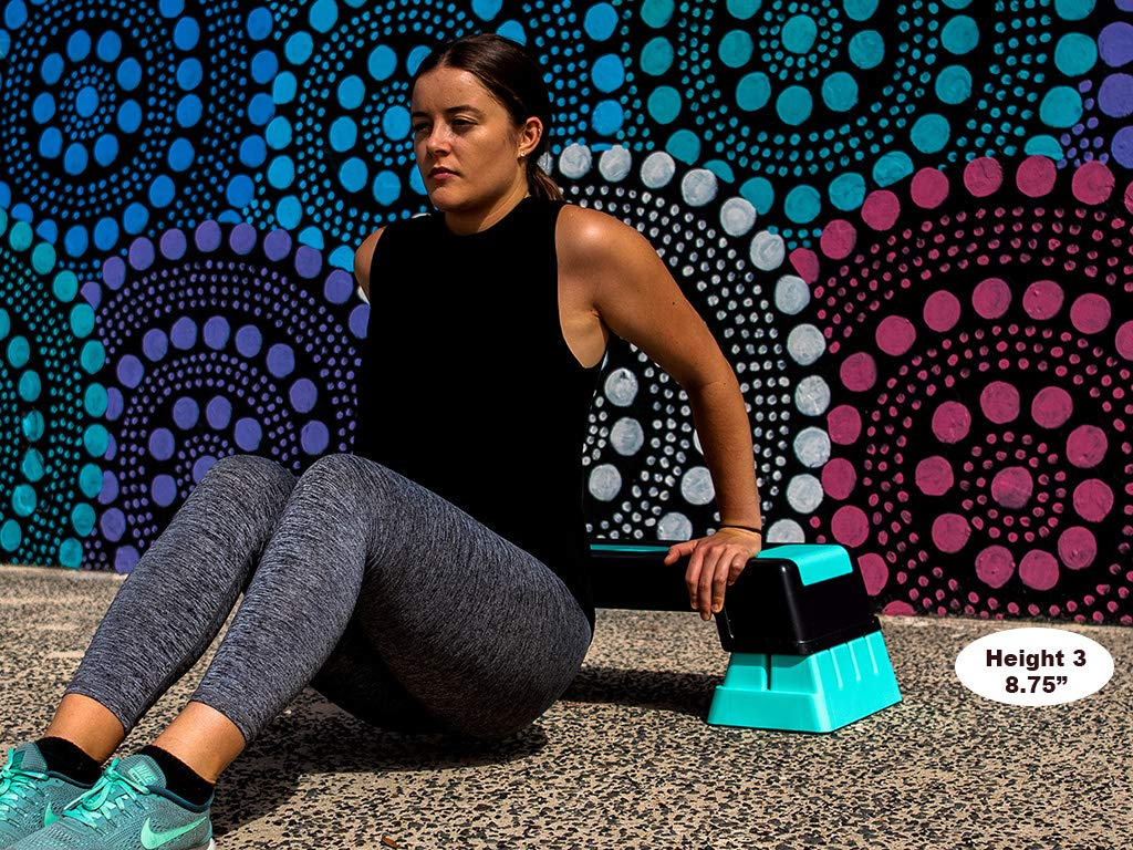 Unleashed Women's 3 Height Adjustable Aerobic Workout Step Platform + Free eBook by unleaSHEd     (Image #5)