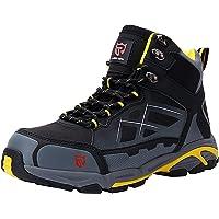 LARNMERN Botas de Seguridad Hombres,S1P/SBP SRC Zapatos de Trabajo con Punta de Acero Reflectivo Transpirable Anti…