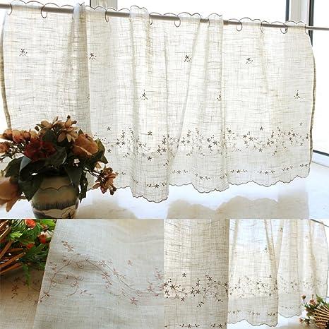 Silk Road Americano Ricamo Tenda Ombra Mantovane per Cucina Sala da Pranzo  Decorazioni per finestre-A 155x55cm(61x22inch)