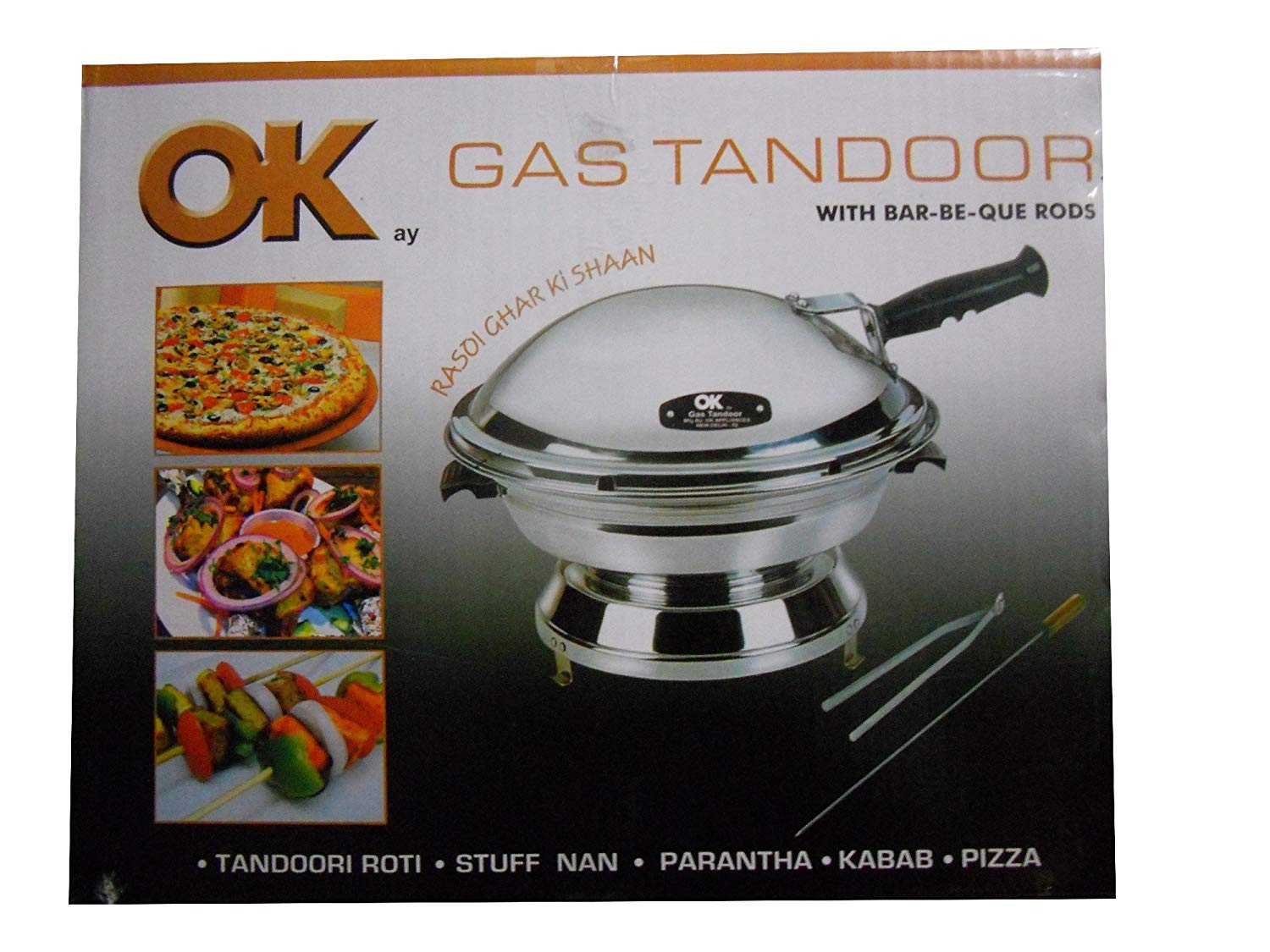 JOLLY GAS TANDOOR OK WITH BAR-BE-QUE RODS AS AN OVEN, AS A TOASTER,AS A DAL BATI MAKER