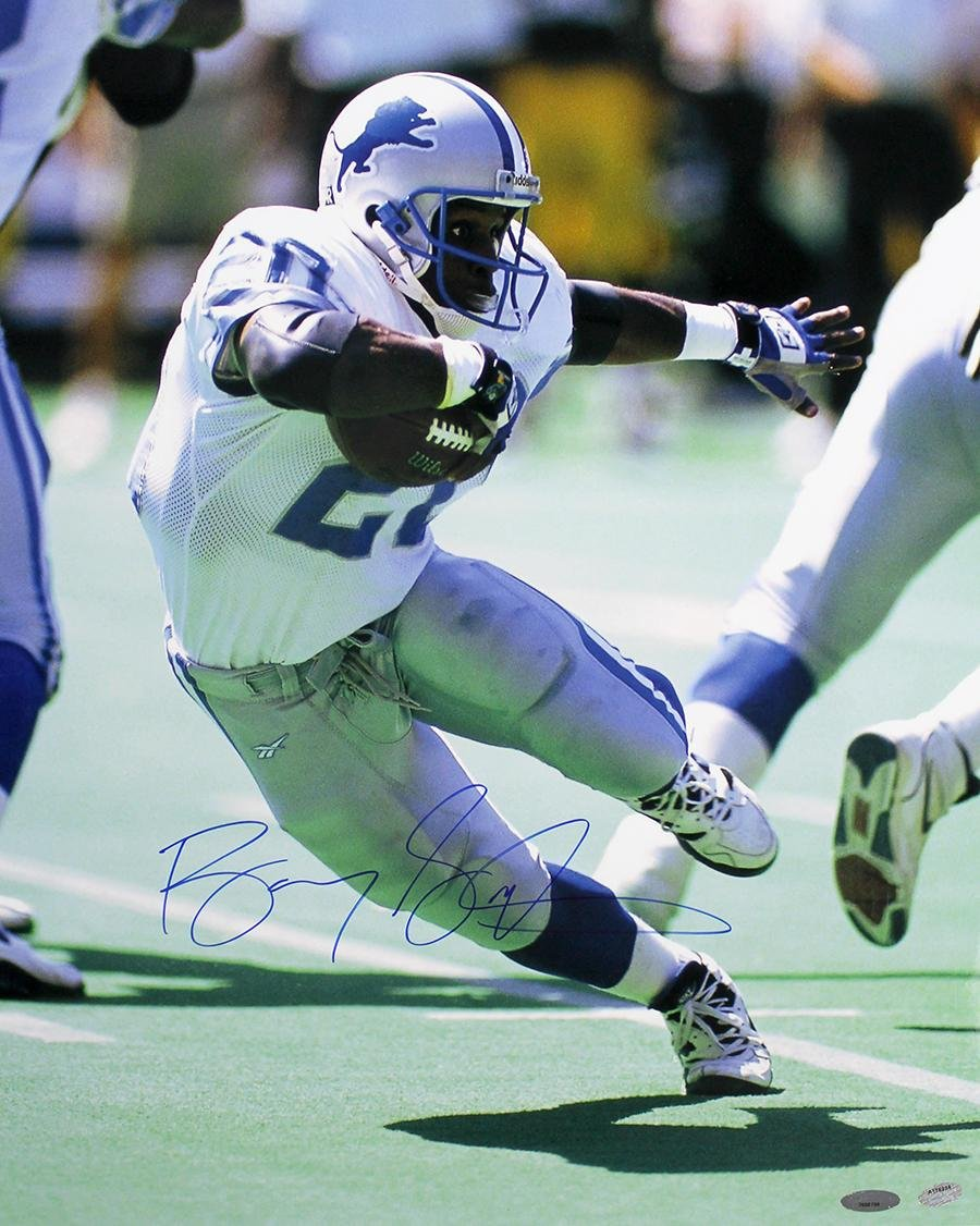 Barry Sanders Signed Picture - 16x20 - Autographed NFL Photos at ...