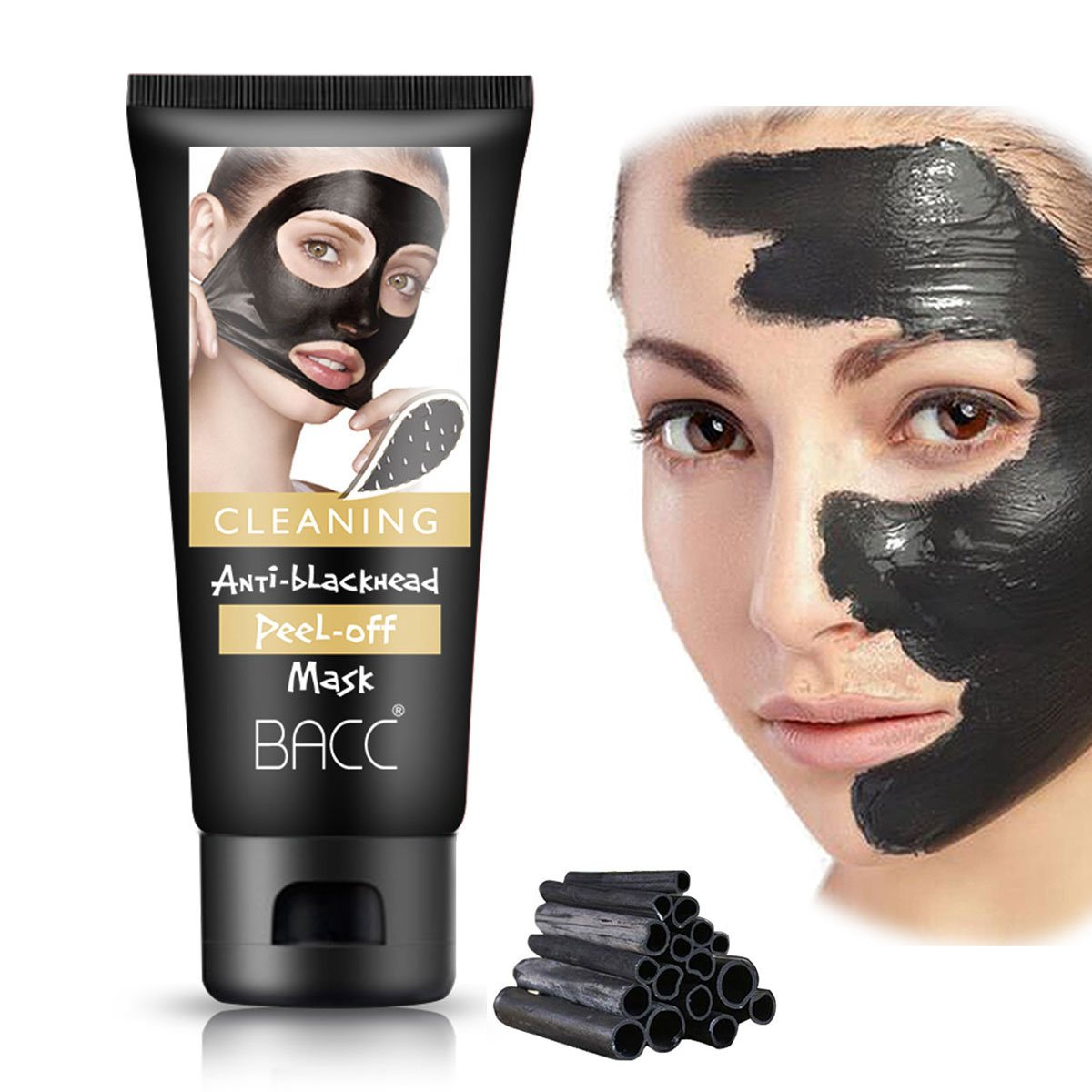 Blackhead Remover Mask Charcoal Peel Off Black Head Face Mud Mask Facial Purifying Hell Pore Deep Clean Up Cleansing Oil Control 60g