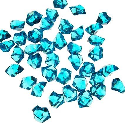 Amazon 1 Pounds Of Turquoise Acrylic Ice Rock Vase Gems Or