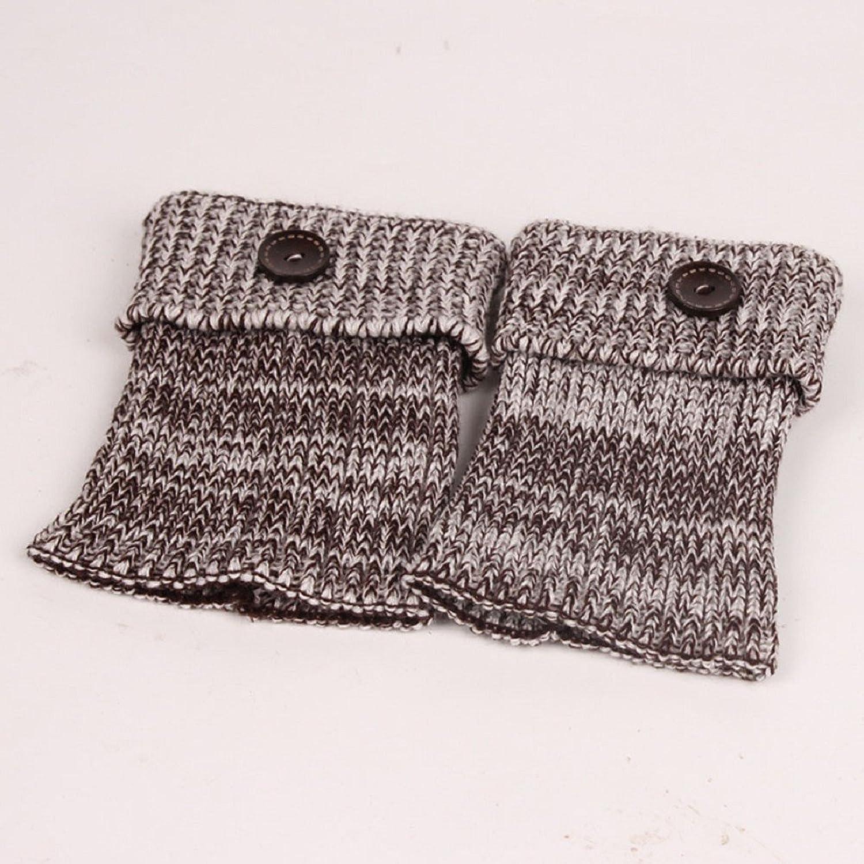 Vovotrade/®/®/® ❤❤ 1 Paar-Frauen-Retro Knopf-H/äkelarbeit strickte Strumpf-Bein-Pl/üsch-Abdeckungs-Knopf-Ordnungs-Socken