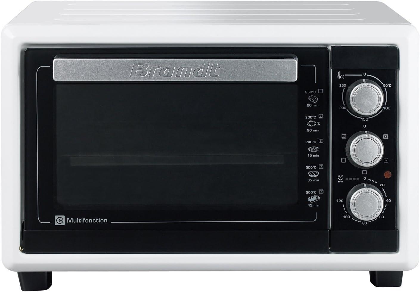 Brandt FC160MW - Mini horno multifunción (16 l, 1200 W), color blanco: Amazon.es: Hogar