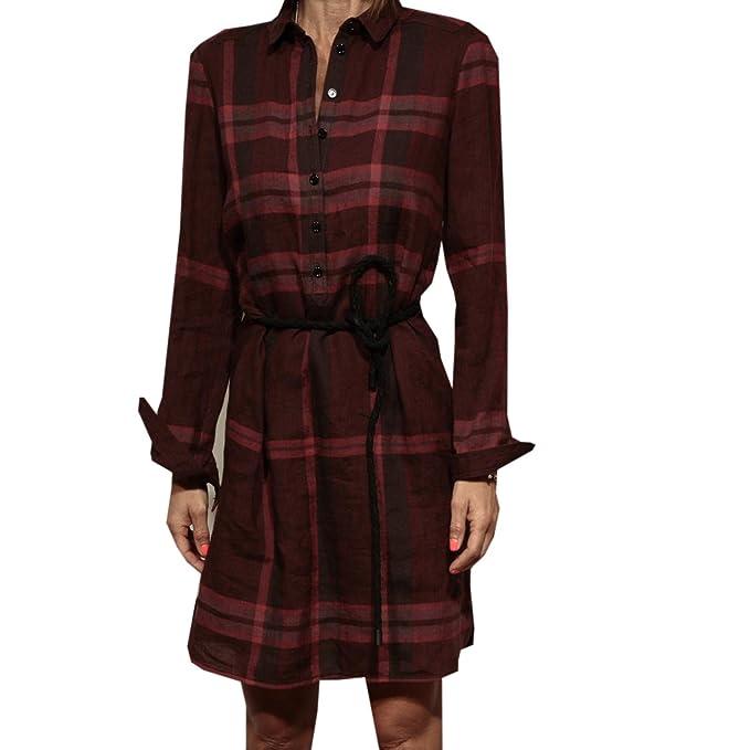 Burberry - Traje con falda - para mujer rojo Bordeaux 40