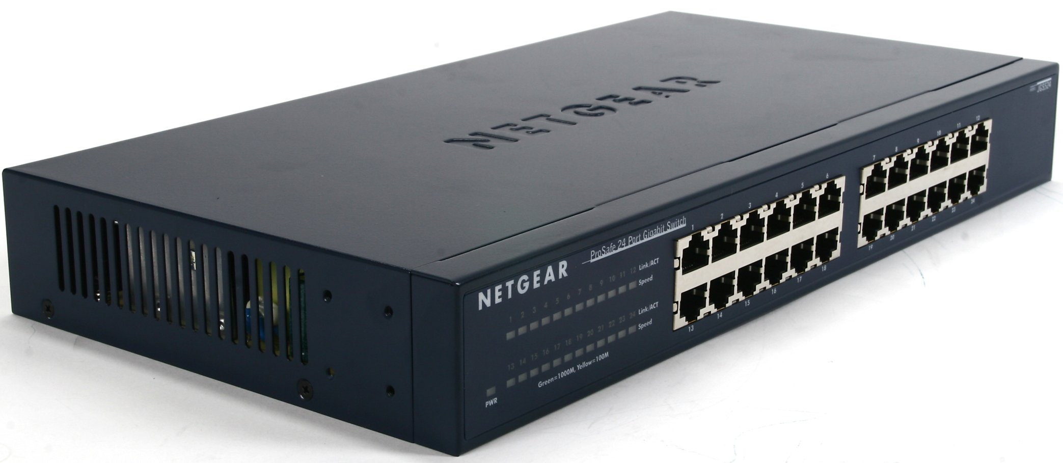 NETGEAR JGS524NA 24-Port Gigabit Ethernet Rackmount Network Switch | Lifetime Next Business Day Replacement | Sturdy Metal | Desktop | Plug-and-Play | Unmanaged by NETGEAR