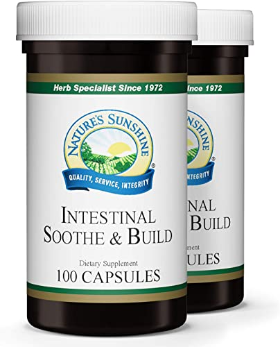 Nature s Sunshine Intestinal Soothe and Build 100 Capsules, 2 Pack