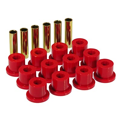Prothane 7-1001 Red Rear Spring Eye and Shackle Bushing Kit: Automotive