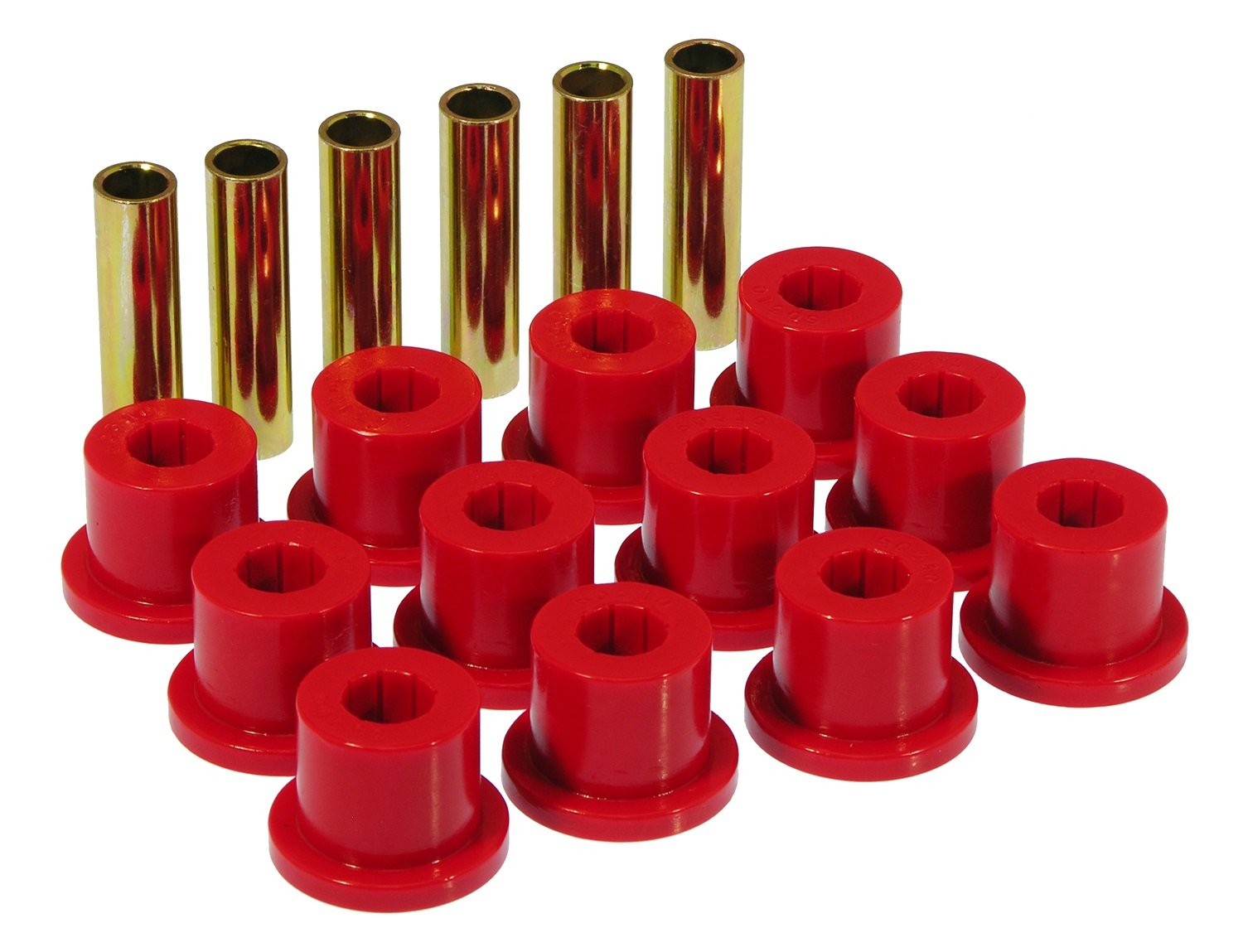 Prothane 7-1001 Red Rear Spring Eye and Shackle Bushing Kit by Prothane