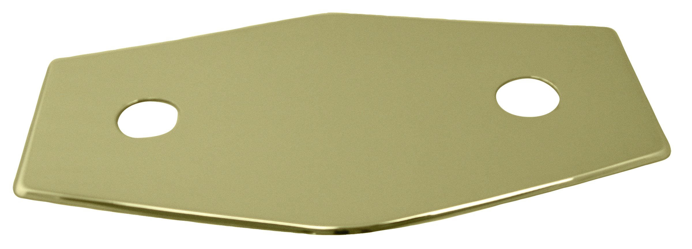 Westbrass Two-Hole Remodel Plate, Polished Brass, D504-03