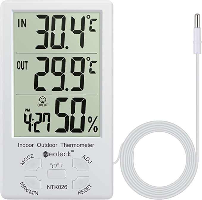 eLifeStore Humidity Temperature Digital LCD Humidity Hygrometer Temperature Thermometer for home//wall//desk//indoor//outdoor