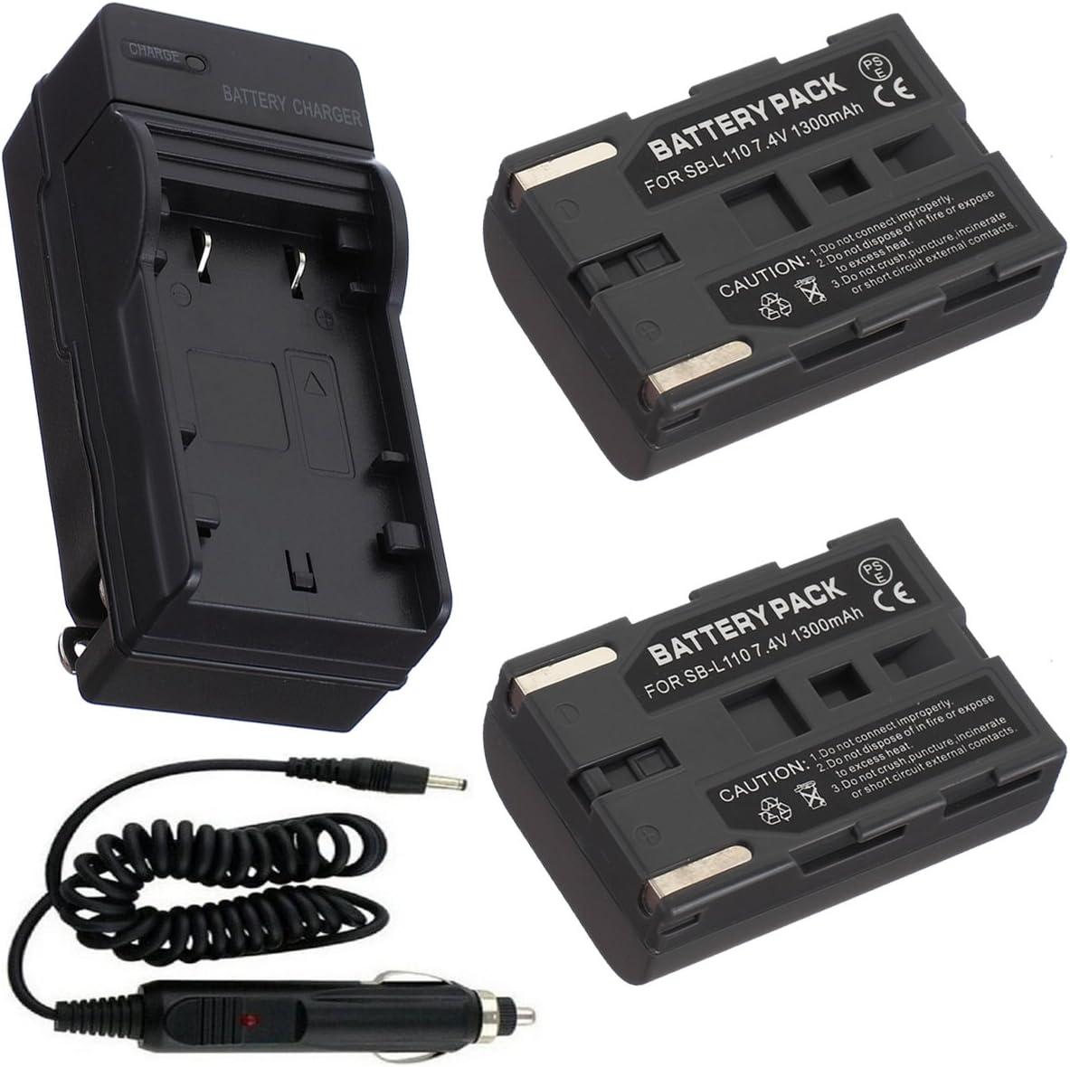 Batería (2-Pack) + cargador para Samsung SCD101, SCD103 MiniDV ...