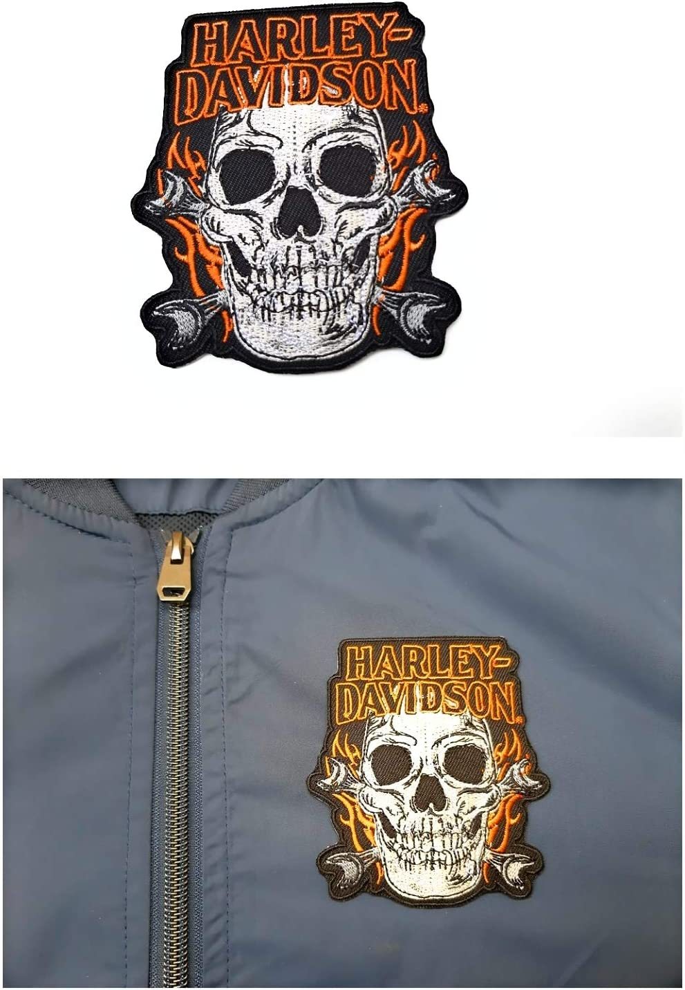 B & S logotipo grande de Harley Davidson Patch 26 x 20 para chaquetas y Gilets: Amazon.es: Juguetes y juegos