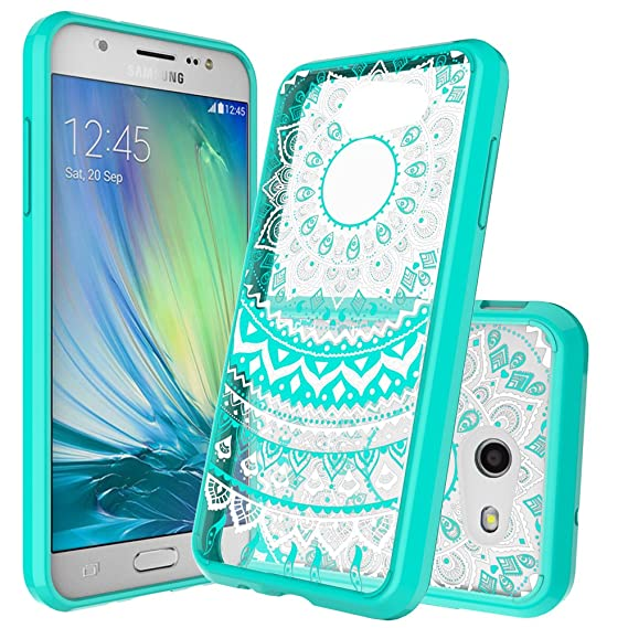 quite nice d4499 4238f Galaxy J3 Emerge Case,J3 Eclipse/J3 2017/J3 Prime/J3 Mission/Luna Pro/Sol  2/Express Prime 2 Case Clear ,Anoke Slim Fit Phone Cases Cover with Screen  ...
