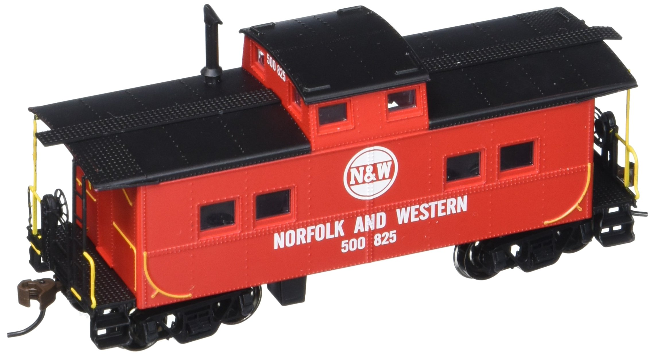 Bachmann Industries Norfolk & Western Red #500825 Northeast Steel Caboose (HO Scale Train) by Bachmann Trains (Image #1)