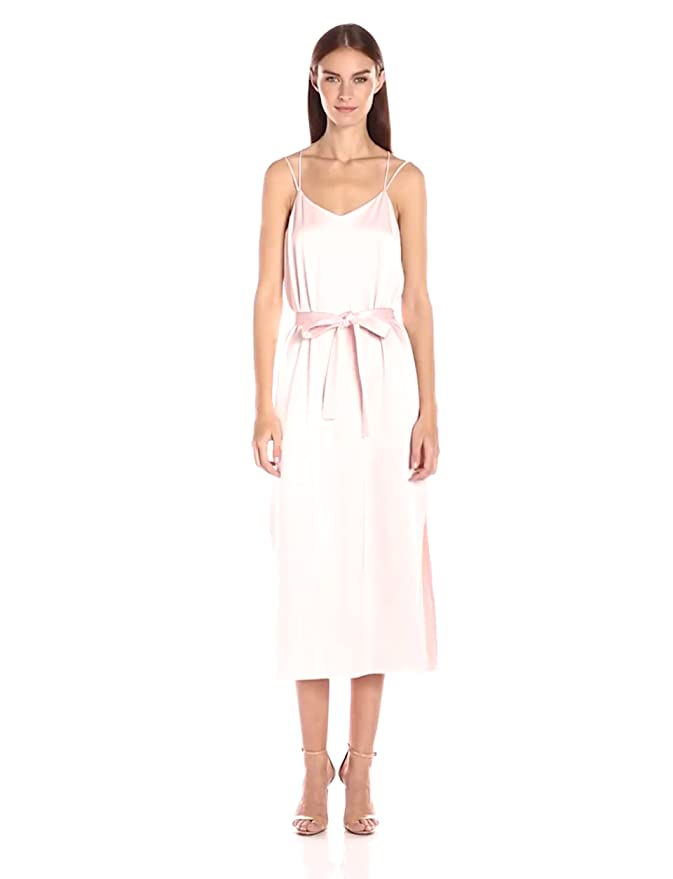 Amazon.com: Halston Heritage Womens Sleeveless Satin Cami Slip Dress: Clothing