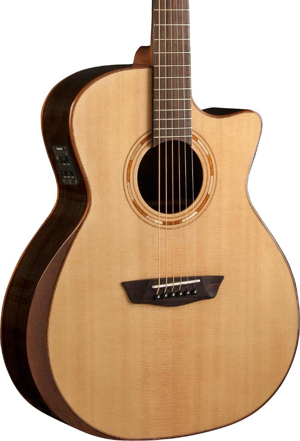 Washburn Comfort Series USM-WCG20SCE Acoustic-Electric Guitar Natural by Washburn