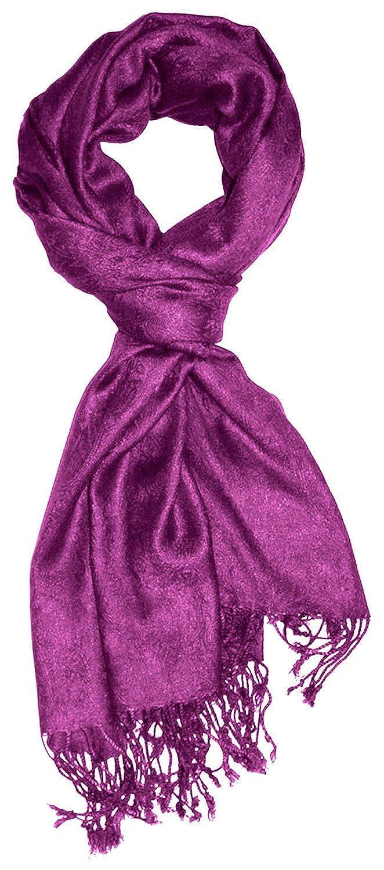 Lorenzo Cana Designer Damenschal Pashmina hochwertiger Markenschal jacquard gewebtes Paisley Muster 60 cm x 200 cm Viskose harmonische Farben Schaltuch Schal Tuch 93080