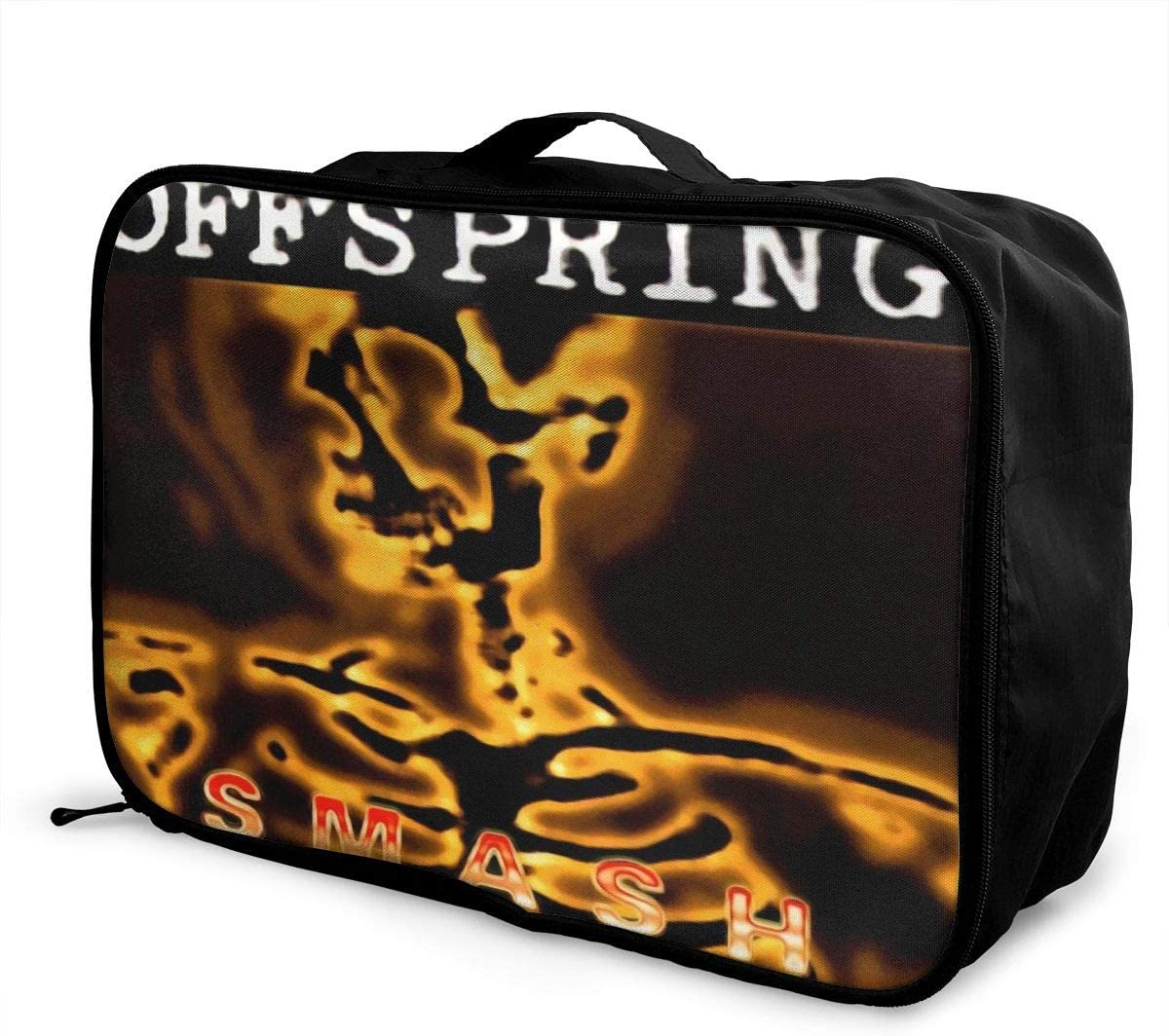 The Offspring Smash Lightweight Large Capacity Portable Luggage Bag Hanging Organizer Bag Makeup Bag