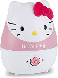 Crane Adorables Ultrasonic Cool Mist Humidifier, Filter Free, 1 Gallon, 24 Hour Run Time, Whisper Quite, for Home Bedroom Baby Nursery and Office, Hello Kitty