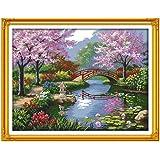 Decdeal DIY クロスステッチ 刺繍キット 14CT美しい風景パークパターン 57*45cm ホーム装飾