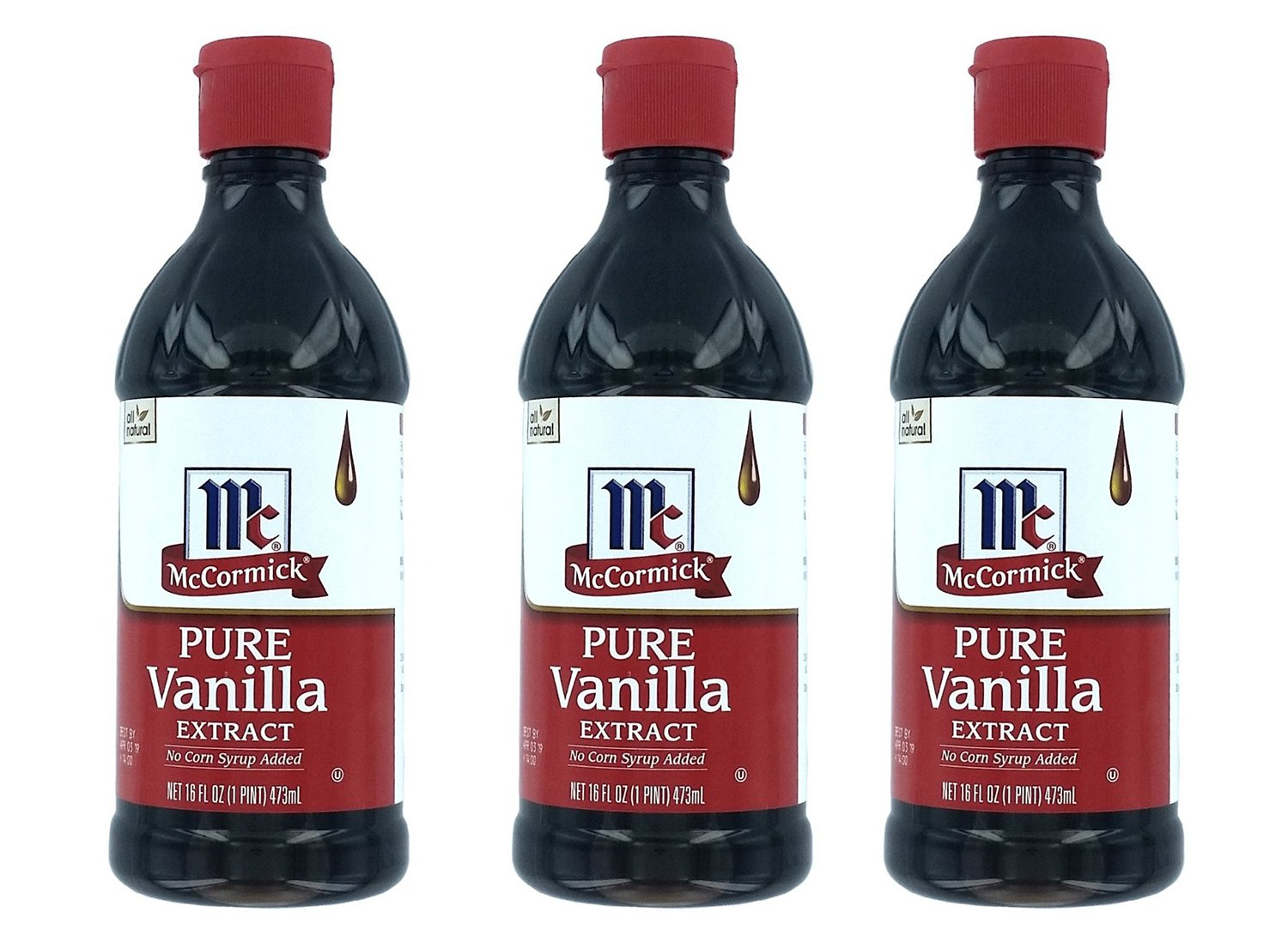 McCormick Pure Vanilla vvLNs Extract, 16 Oz (3 Pack) by McCormick (Image #1)