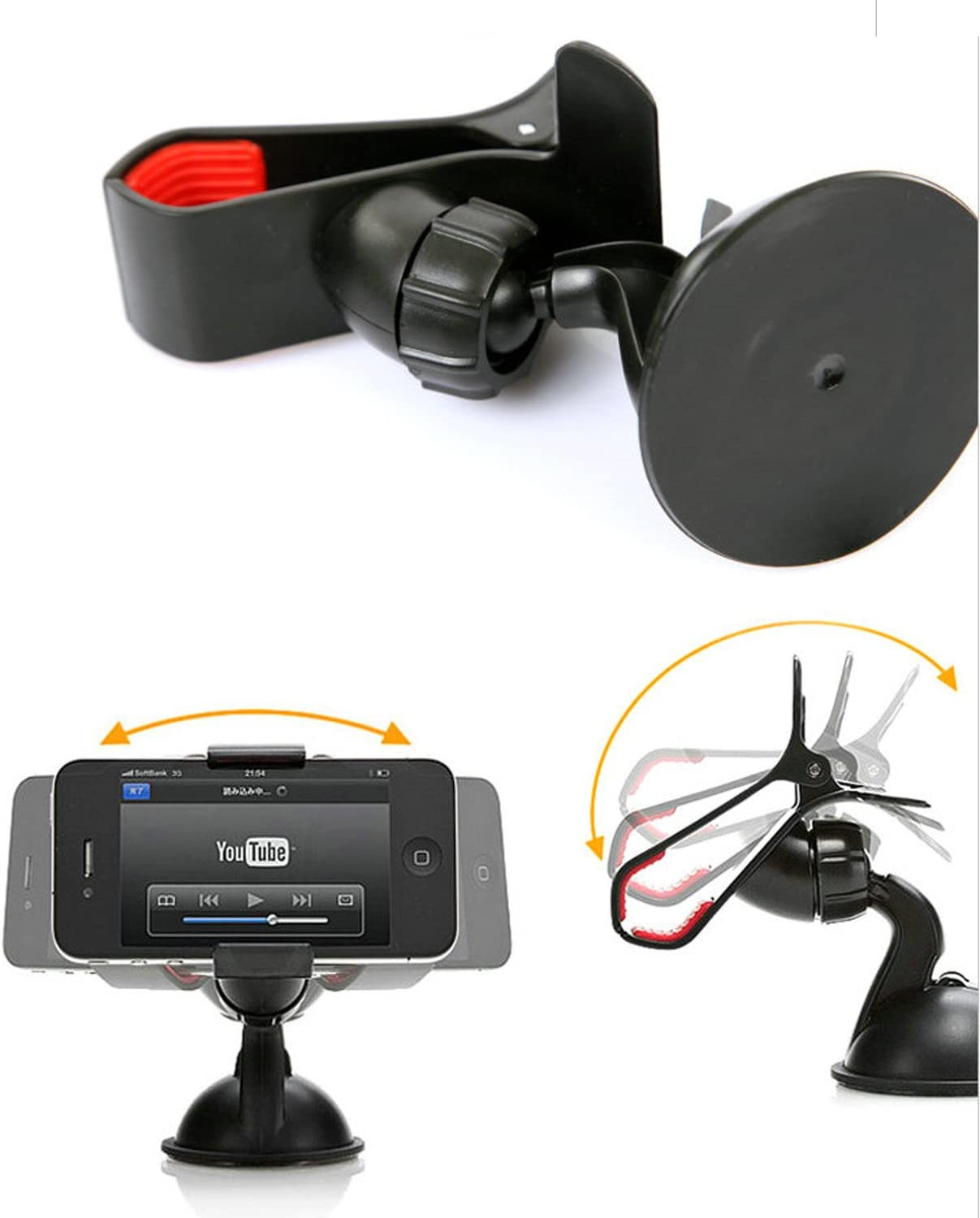 Cell Phone Car Holder Mount for Windshield and Dashboard