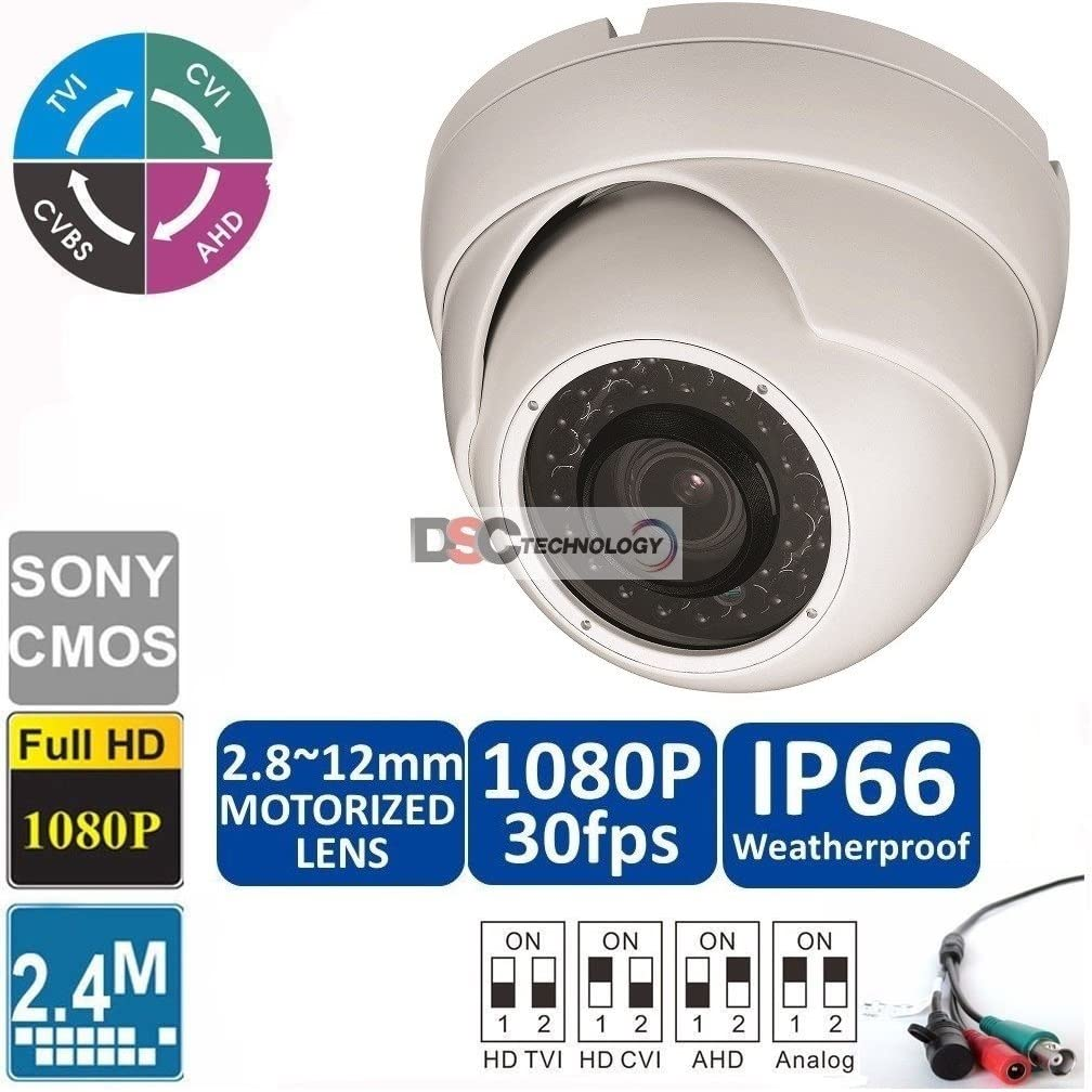 2MP 1080p HD-CVI/HD-TVI/HD-AHD Motorized Zoom Dome Security Camera - 100' IR - 2.8-12mm Motorized Zoom Lens - High Definition Security Recording over Coax Cable 71ltMzLpSHLSL1027_