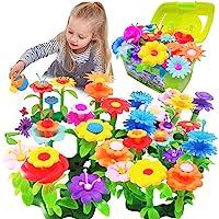Scientoy Flower Garden Building Toys, Stem Toys Build a Garden for Girls, 130 PCS Flower Pretend Gardening Gift for Kids…