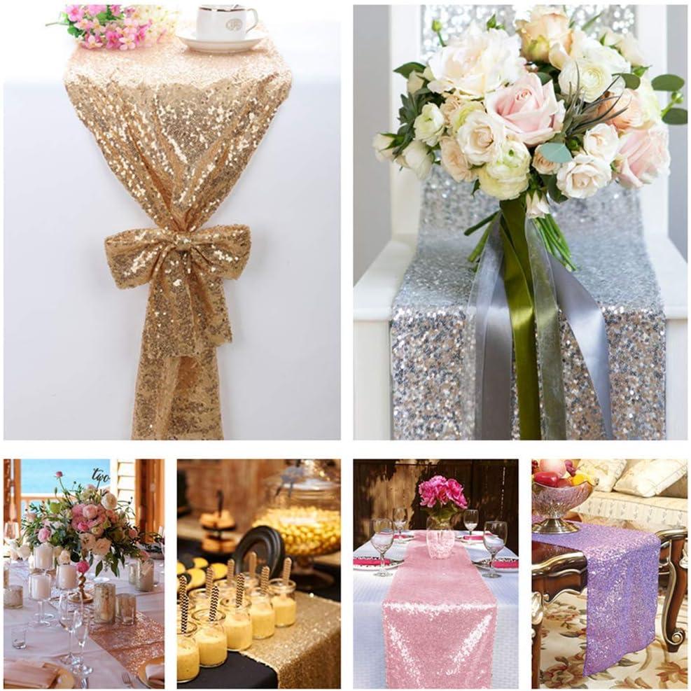 Mantel de lentejuelas de SoarDream color Champagne Blush 50X 80 Tablecloth-silver de forma rectangular para bodas de 127 x 203 cm