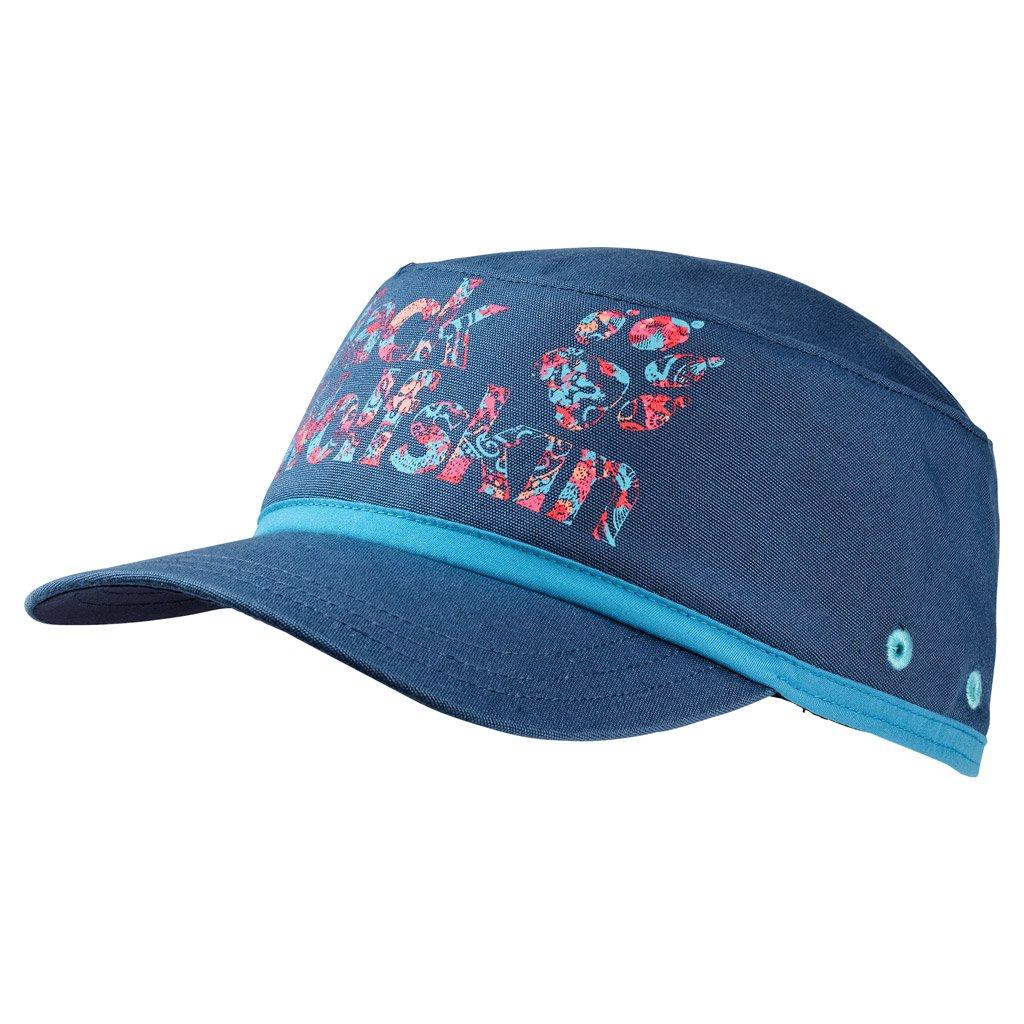 Jack Wolfskin Girl's Brand Hat, Ocean Wave, Small