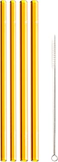 """product image for Simply Straws Straight 2 Classic & 2 Wide 8""""+ Brush (Amber)"""