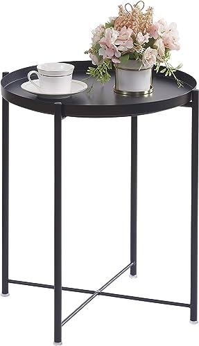OVICAR Metal Tray End Table