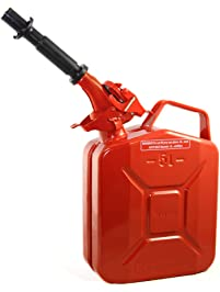 Wavian USA JC005RVS Authentic NATO Jerry Fuel Can and Spout System Red (5 Litre)