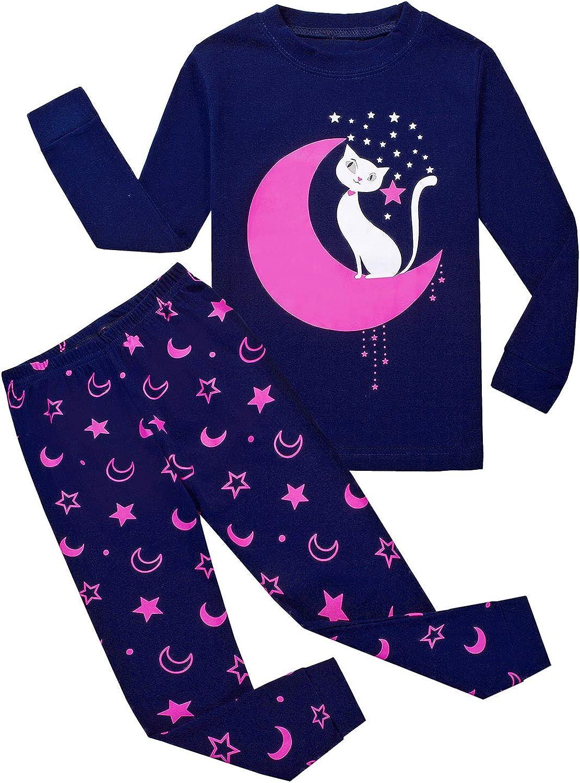Garsumiss Toddler Girls Pyjamas Set Cute Kids Mermaid Cotton Pjs Pajama Sleepwear Tops Shirts /& Pants Nightwear Children Outfit 2-7 Years